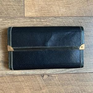 Louis Vuitton Black Long Wallet